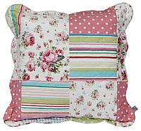 Подушка декоративная с рисунками. Розовая