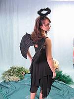 Взрослый карнавальный костюм - черный ангел, фото 1