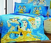 Постельное бельё полуторное для детей ARYA сатин  princess-blue