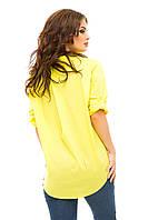 Оригинальная коттоновая блузка в трёх цветах