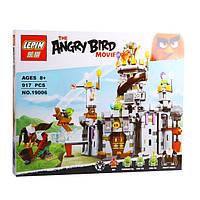 """Конструктор Lepin Angry Birds 19006 """"Замок Короля свинок"""" 859 деталей"""