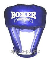 Шлем боксерский/для бокса BOXER, сверху шнуровка, винил, разн. цвета, L
