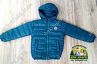 Детская теплая демисезонная куртка бирюзовая