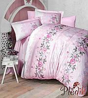 Набор постельного белья двуспальный евро 200х220 Aran CLASY Ranforce Lisa V2