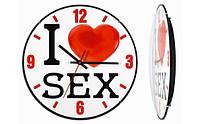 Часы Настенные Монтрэ I LOVE SEX,оригинальные подарки