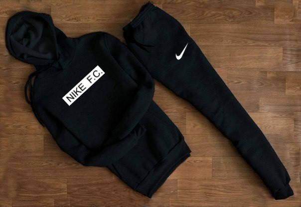 86d0a4d2 Мужской Спортивный костюм Nike FC чёрный c капюшоном отличного ...