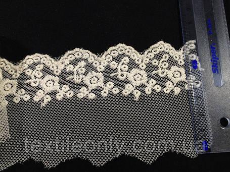 Мереживо, колір білий 65 мм N970, фото 2