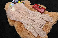Женская жилетка из меха ламы и кролика. Отлично на весну