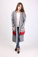 Пальто из плотного трикотажа