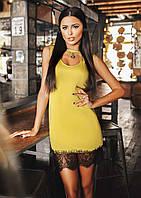 """Элегантное коктейльное женское платье 039 """"Вырез Сердце Кружево"""""""