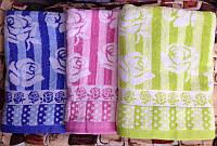 Махровое лицевое полотенце «Цветы» 50/100