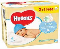 Влажные салфетки Huggies Pure 2+1, 3х56 шт.