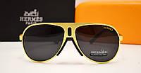 Мужские солнцезащитные очки Hermes 120812 золото