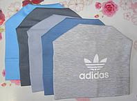 """Детская трикотажная шапка """"Adidas"""" на мальчика. Разные цвета. Оптом., фото 1"""