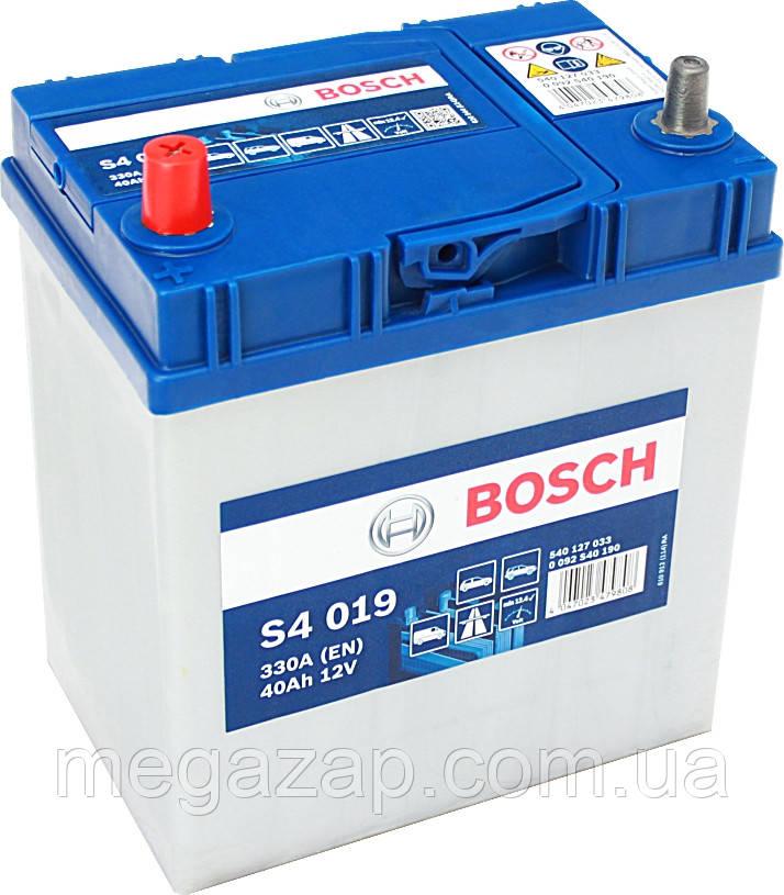 Аккумуляторная батарея  S4 ASIA ЛЕВ [+] 12V 40AH 330A BOSCH 0092S40190