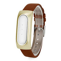 Ремешок для браслета Xiaomi Mi Band Leather Brown/Gold Лицензия