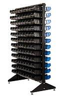 Стеллаж двусторонний 1500-2 с черными ящиками
