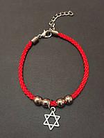 Красная нить с талисманом Звезда Давида