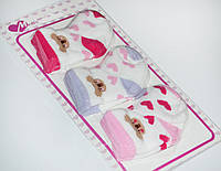 Махровые носки для девочки набор 3 шт.