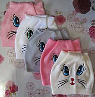 "Детская шапка-ушки ""Мордочка кошки"" на девочку. Разные цвета. Оптом., фото 1"