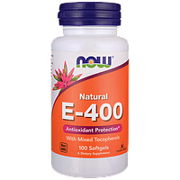 Е-400 (100% натуральный комплекс витамина Е) 100 мягких капсул