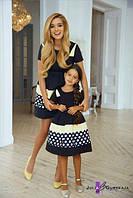 Набор платьев мама и дочка с пышной юбкой