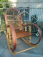 Качалка плетеная с окантовкой из ротанга, фото 1
