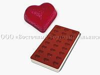 Профессиональная силиконовая форма для мармелада - Сердце - 24 фигуры, 34 x 30 x 18 мм