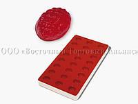 Профессиональная силиконовая форма для мармелада - Ананас - 24 фигуры, 33 x 23 x 18 мм