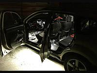 Подсветка порогов автомобиля-белая!