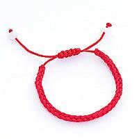 Браслетик красный на удачу защита от сглаза, плетеный