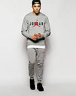 Серый спортивный костюм Джордан (мужской)