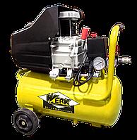 Воздушный компрессор поршневой электрический Werk BM-2Т24N ресивер 24 л - 8 бар 1,5 кВт, вход 200 л/мин