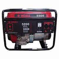 WEIMA WM5500E бензогенератор 5,5Квт, 1 ФАЗА.Электростарт
