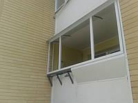 Вынос балкона и лоджий короткий, с обшивкой п/вагонка. Киев.