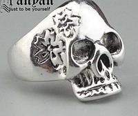 Кольцо для мужское из стали, череп 20р