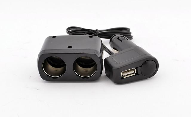 Автомобильный двойник для прикуривателя с USB