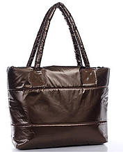 Стеганная дутая сумка ТОЛЬКО ОПТОМ ! коричневый