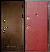 Стандарт-1 (молотковая покраска 1,5мм + кожвинил+ 1 замок). Входные металлические двери