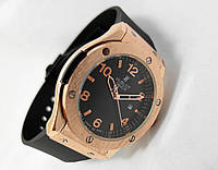 Мужские часы HUBLOT - GENEVE BIG NUMBER, цвет золото, черный циферблат