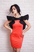 Нарядное молодежное женское платье с рукавами-воланами