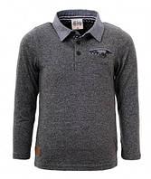 Рубашка поло для мальчика р.98-128 (арт.2748 темно-серый)