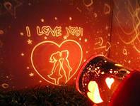 Подарок на свадьбу — ночник-проектор Звездное Небо любви (romantic love star beauty)