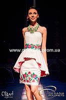 Платье с вышивкой, коктельное