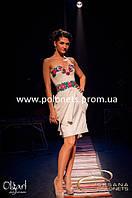 Платье в украинском стиле,вышивка