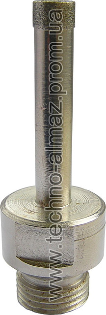 Алмазное сверло D 10 мм (резьбовое)