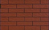 Фасадная плитка Красная рустикальная 245х65х6,5 мм