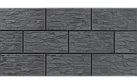 Фасадный камень Графитовый рустикальная 300х148х9 мм