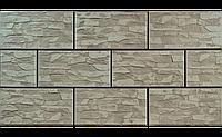 Фасадный камень Cеро-зеленый рустикальная 300х148х9 мм