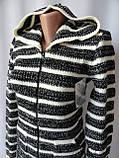 Туника женская недорого теплая с капюшоном, фото 2